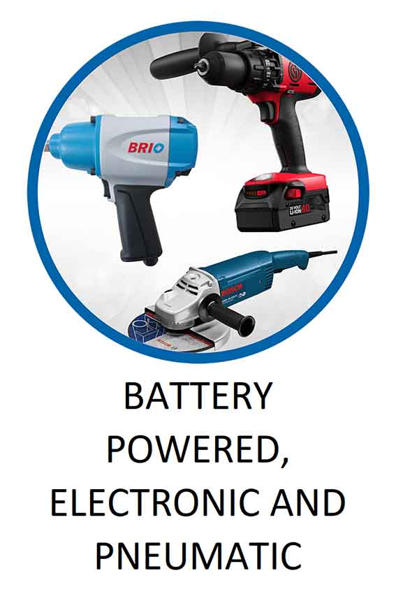 Battery Powered Electronic and Pneumatic Tools