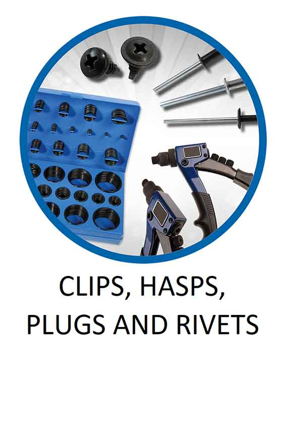 Clips Hasps Plugs and Rivets