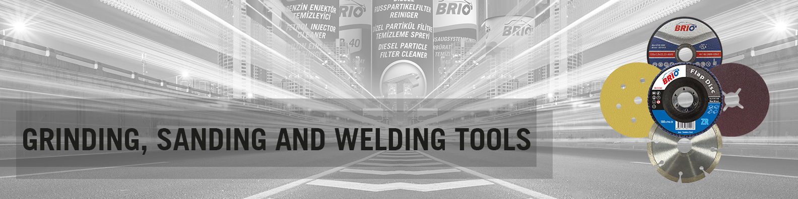 BRIO Europe Grinding Sanding and Welding Tools