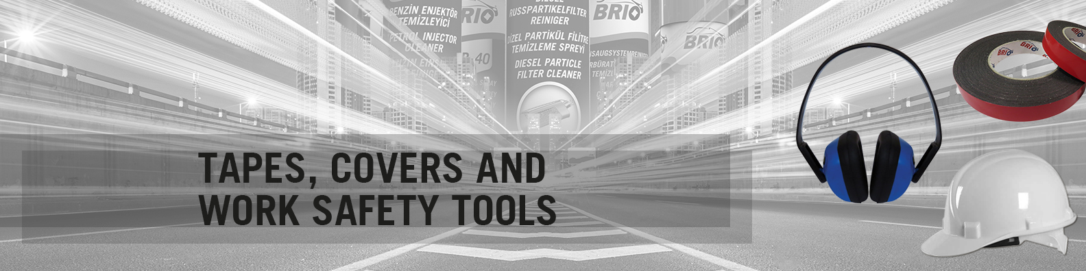 BRIO Europe Tapes, Covers and Work Safety Tools