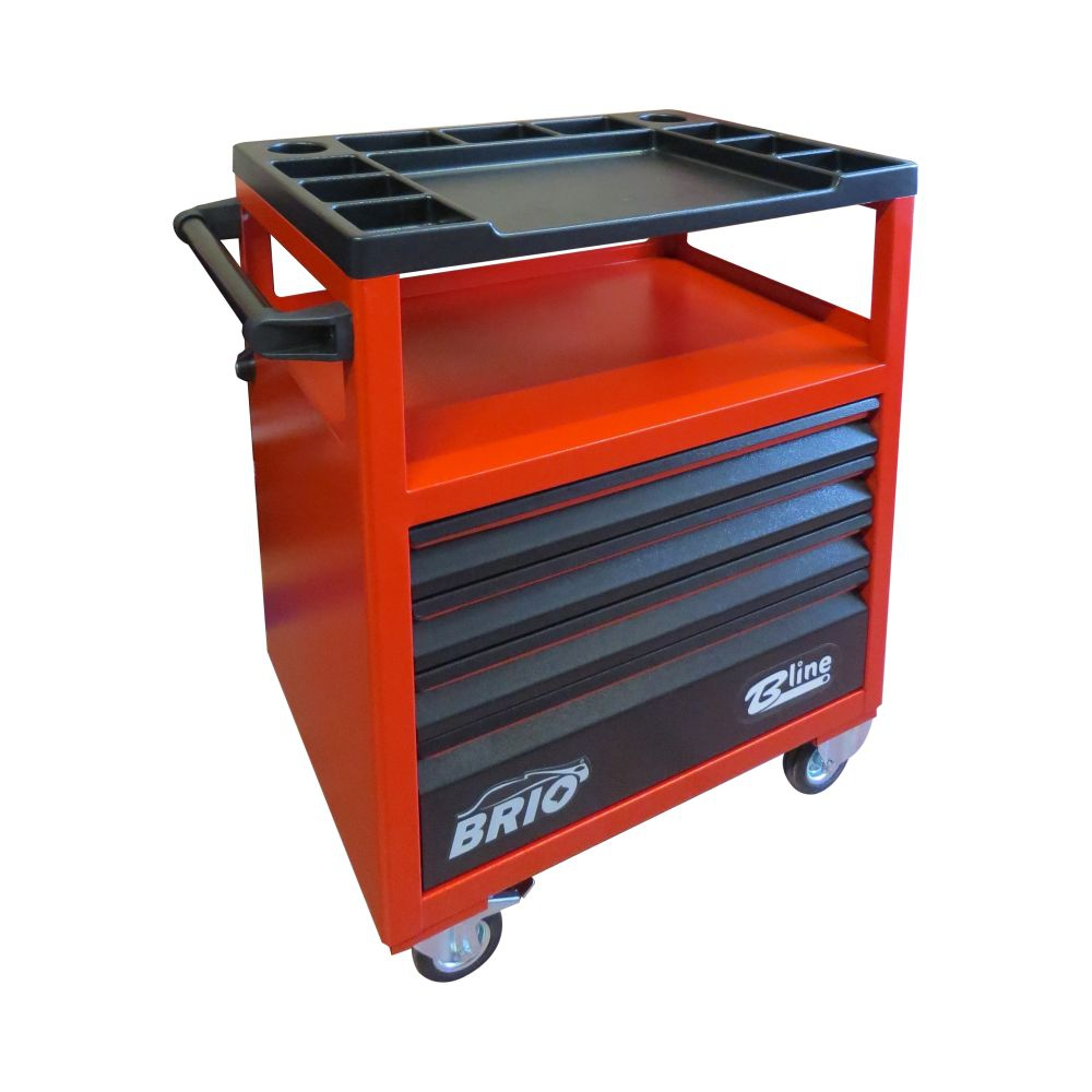 Tool Trolley 4 Drawers Red Empty