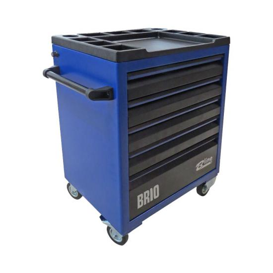 Tool Trolley 5 Drawers Blue Empty