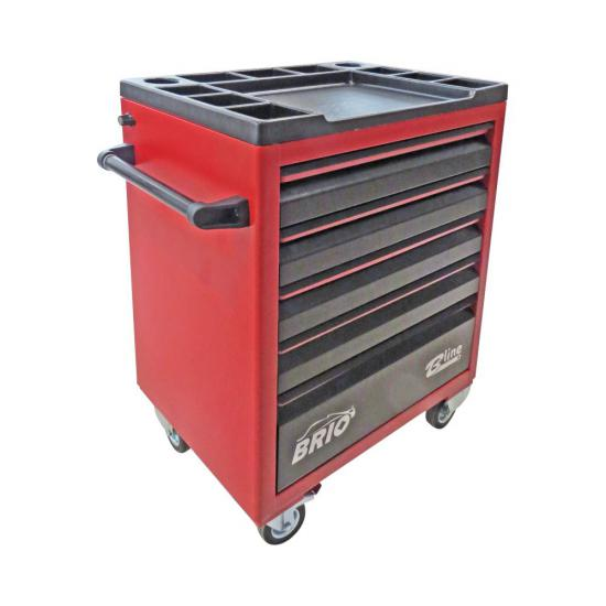 Tool Trolley 5 Drawers Red Empty