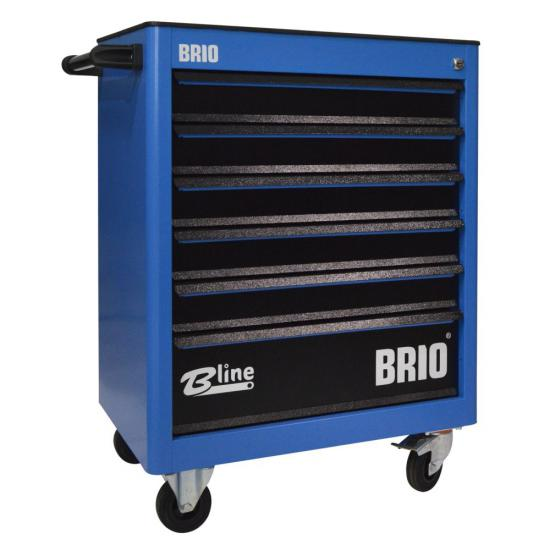 Tool Trolley 6 Drawers Blue Empty