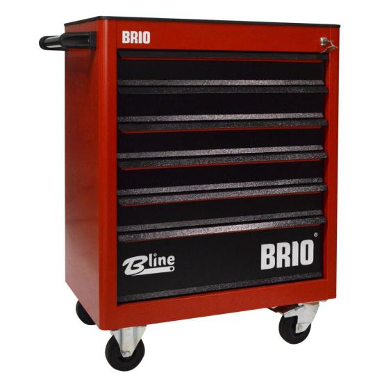 Tool Trolley 6 Drawers Red Empty
