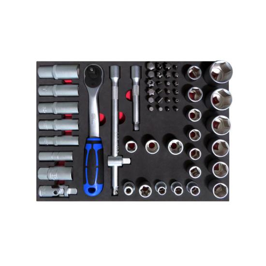56 Piece Socket Set 1/2 10-32 with Foam Inlet