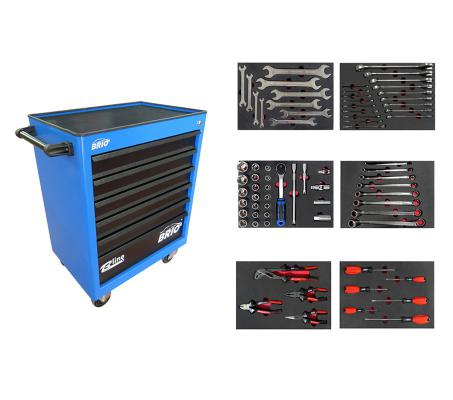 Tool Trolley 6 Drawers Blue Eco Full