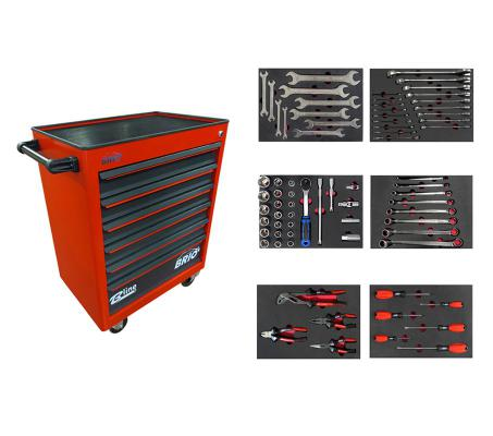 Tool Trolley 6 Drawers Red Eco Full