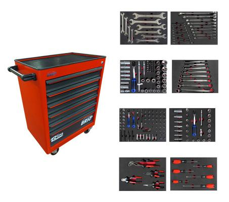 Tool Trolley 6 Drawers Red Pro Full