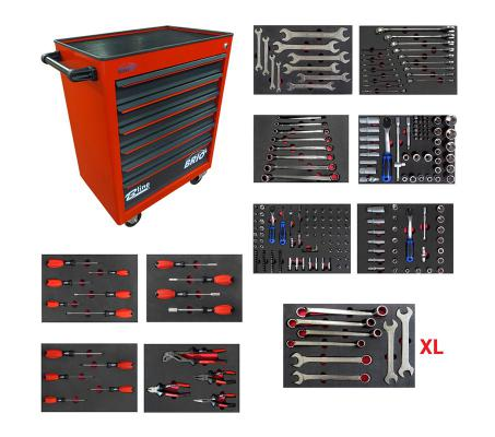 Tool Trolley 6 Drawers XL Red Full