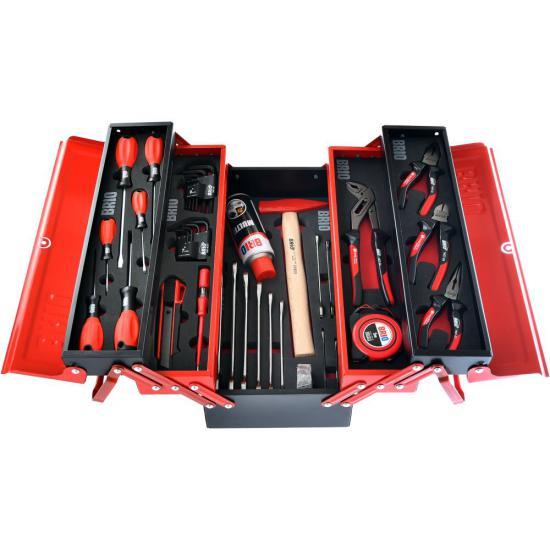 Full Red Toolbox with 5 Cantilever Tray 420 mm
