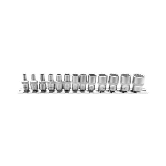 13 Piece Socket Set 12-Point 1/4 4 - 14 mm