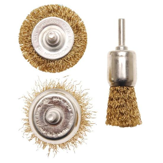 3 Piece Steel Wire Brush Set