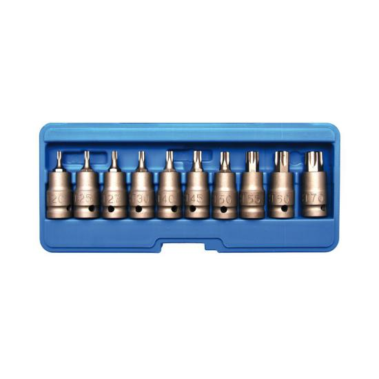 10 Piece Impact Bit Socket Set 1/2 T20 - T70