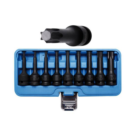 9 Piece Impact Bit Socket Set 1/2 T20 - T70