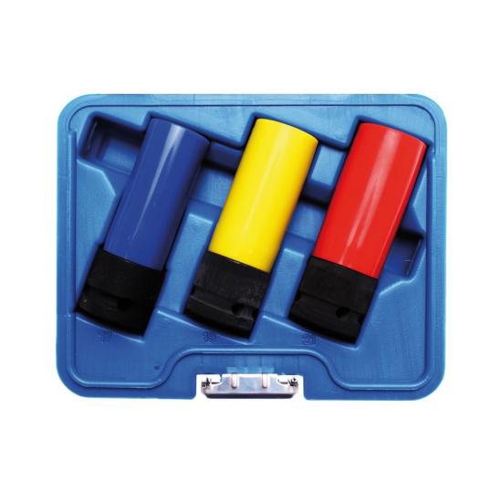 3 Piece Protective Impact Socket Set 1/2 | 17 / 19 / 21 mm