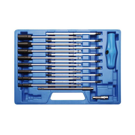 19 Piece T-Handle Screwdriver and Socket Set 1